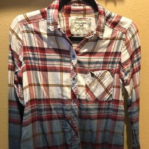 Abercrombie fade flannel